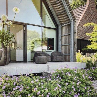 Terrasse pour un matin paisible