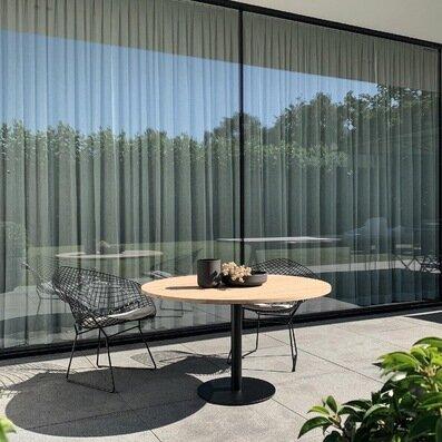 Carmetum Knoll Bertoia Diamond chair low dining table outdoor design Bastalpe