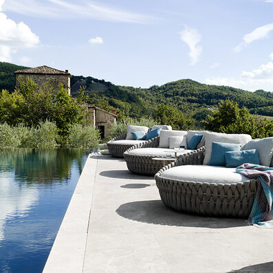 Tribu - Outdoor carpets, Benches, Accessory, Tables, Sidetables, Umbrella, Loungers, Chairs, Sofas